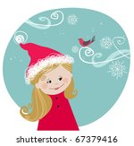 merry christmas illustration | Shutterstock .eps vector #67379416