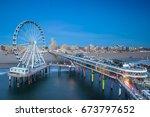 scheveningen skyline | Shutterstock . vector #673797652