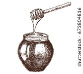 hand drawn ink sketch... | Shutterstock .eps vector #673804816