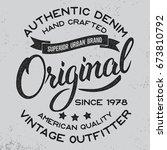 original hand written lettering ... | Shutterstock .eps vector #673810792