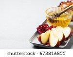 rosh hashanah  jewish holiday ... | Shutterstock . vector #673816855