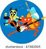 Stock photo animal music band 67382005