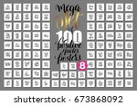 mega set of 100 positive quotes ... | Shutterstock .eps vector #673868092