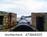 Cannon In Old Castle In...