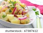 Fresh Potato Salad With Onion...