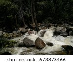 Waterfall In Yosemite National...