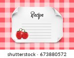 white vector paper sheet with... | Shutterstock .eps vector #673880572