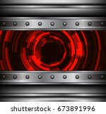 background silver metallic with ... | Shutterstock .eps vector #673891996