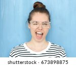 close up portrait of a happy... | Shutterstock . vector #673898875