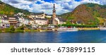 travel in germany   famous...   Shutterstock . vector #673899115