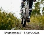 Closeup Mud Mountain Bike Whee...