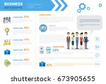 business infographics set copy... | Shutterstock .eps vector #673905655