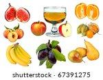 fruit collage   Shutterstock . vector #67391275