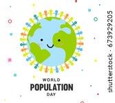 world population day vector... | Shutterstock .eps vector #673929205