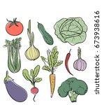 vector sketch illustration of... | Shutterstock .eps vector #673938616