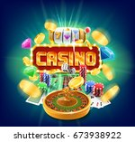 casino banner | Shutterstock .eps vector #673938922