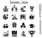 success icon set flat style | Shutterstock .eps vector #673938982