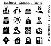 business concept icons | Shutterstock .eps vector #673939006