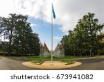 the un flag and the nations of... | Shutterstock . vector #673941082