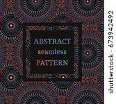 vector seamless pattern vintage ... | Shutterstock .eps vector #673942492
