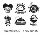 restaurant  menu  food label... | Shutterstock .eps vector #673943455
