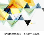 triangular low poly vector a4... | Shutterstock .eps vector #673946326