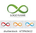 infinity symbols and logo  | Shutterstock .eps vector #673963612