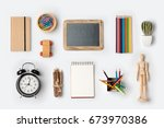 back to school concept with... | Shutterstock . vector #673970386
