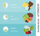 healthy eating  the best time... | Shutterstock .eps vector #673980235