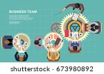 flat design concepts for... | Shutterstock .eps vector #673980892