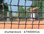 tennis net background with a... | Shutterstock . vector #674000416