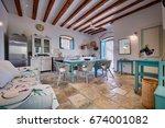 komiza  vis   croatia   may 15  ... | Shutterstock . vector #674001082