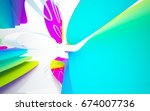 abstract architectural interior ... | Shutterstock . vector #674007736