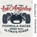 cool vintage race car... | Shutterstock .eps vector #674017456