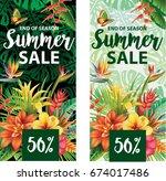 summer sale banners design   Shutterstock .eps vector #674017486