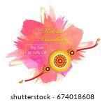 illustration of greeting card... | Shutterstock .eps vector #674018608