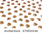 rhinestone background. heart... | Shutterstock . vector #674024146