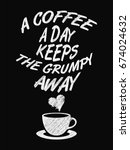 quote coffee poster. a coffee a ... | Shutterstock .eps vector #674024632