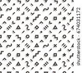 retro geometric seamless... | Shutterstock .eps vector #674031172