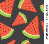 fresh fruits  hand drawn...   Shutterstock .eps vector #674035246
