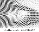 abstract halftone dotted... | Shutterstock .eps vector #674039632