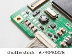 computer motherboard close up.... | Shutterstock . vector #674040328