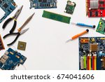 electronics repair and upgrade... | Shutterstock . vector #674041606