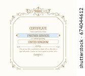 square ornate vintage template... | Shutterstock .eps vector #674044612