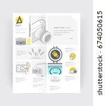 bifold brochure cover design...   Shutterstock .eps vector #674050615