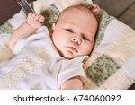 look of a little child.... | Shutterstock . vector #674060092