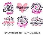 makeup studio and courses... | Shutterstock .eps vector #674062036
