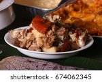 chopped parts of lechon or... | Shutterstock . vector #674062345