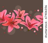 Pink Lilies On Grey Background...