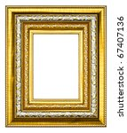 golden wood picture image frame ... | Shutterstock . vector #67407136